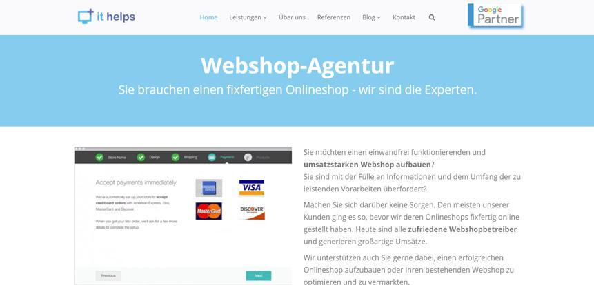 Webshop Agentur Ithelps Programmierung Und Marketing