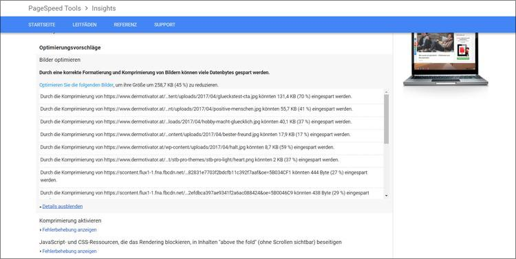 bilder seo optimieren pagespeed insight optimierun 2