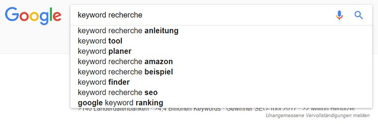 keyword recherche suchintention 1