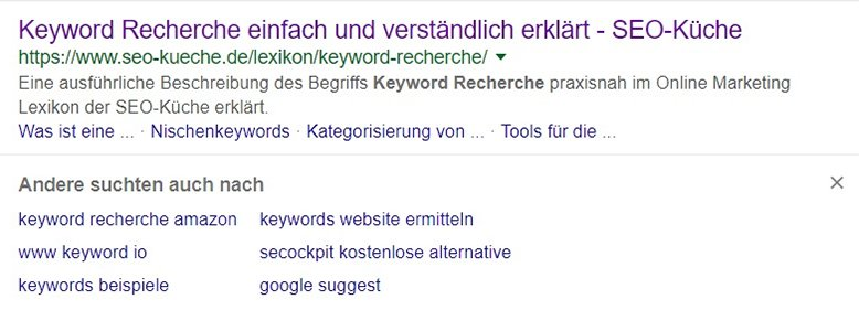keyword recherche suchintention 3