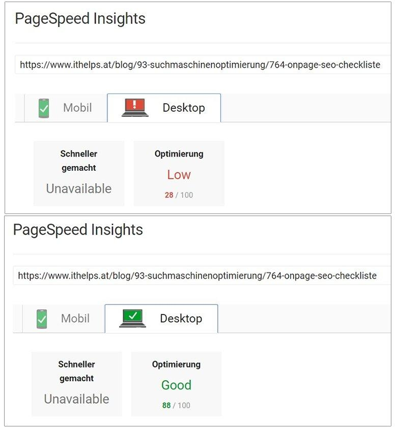 onpage seo pagespeed