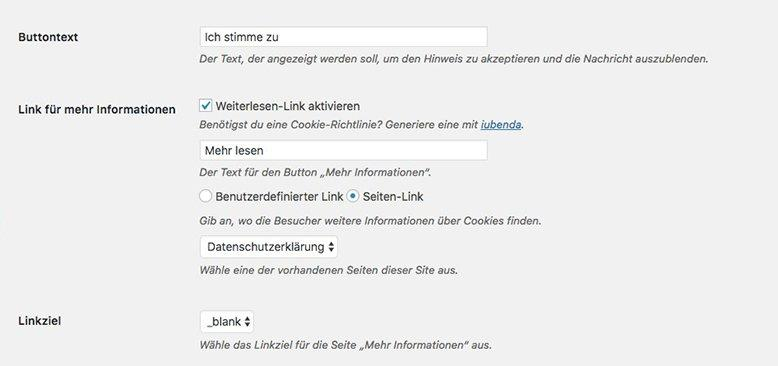 cookie plugin wordpress