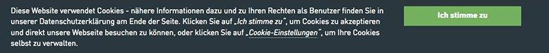 cookie website banner