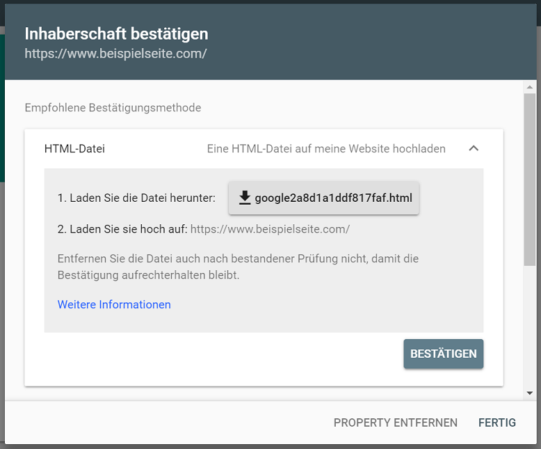 search console inhaberschaft bestaetigen 1