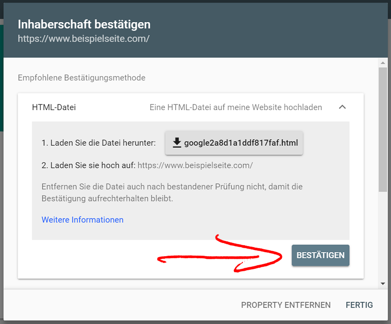 search console inhaberschaft bestaetigen 3