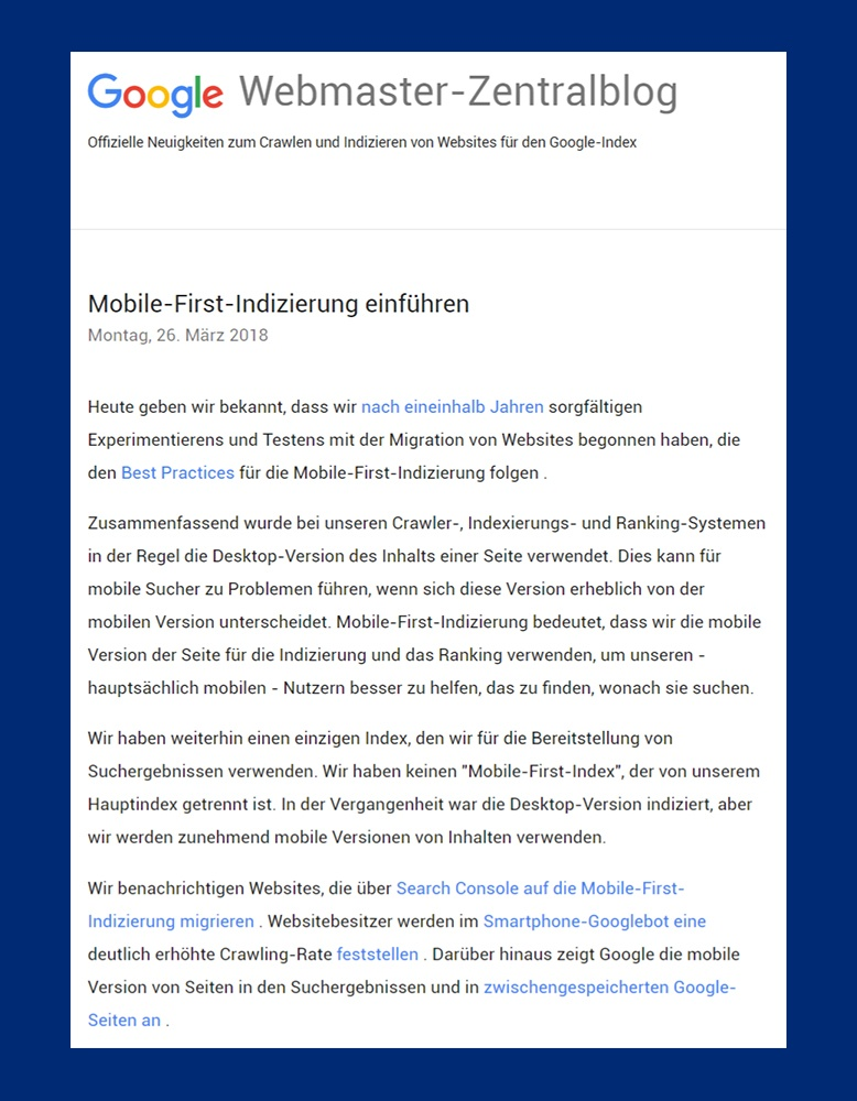 mobile first rollout