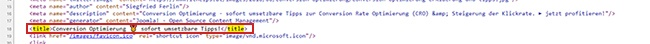 title html code