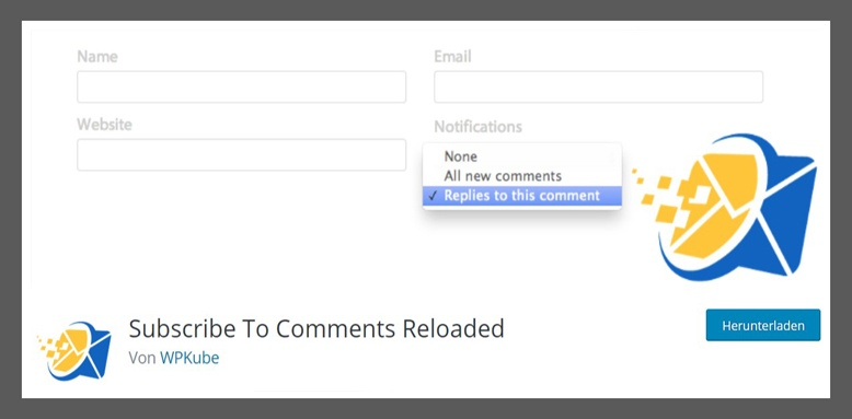 wp plugin subscribe to comments reloaded