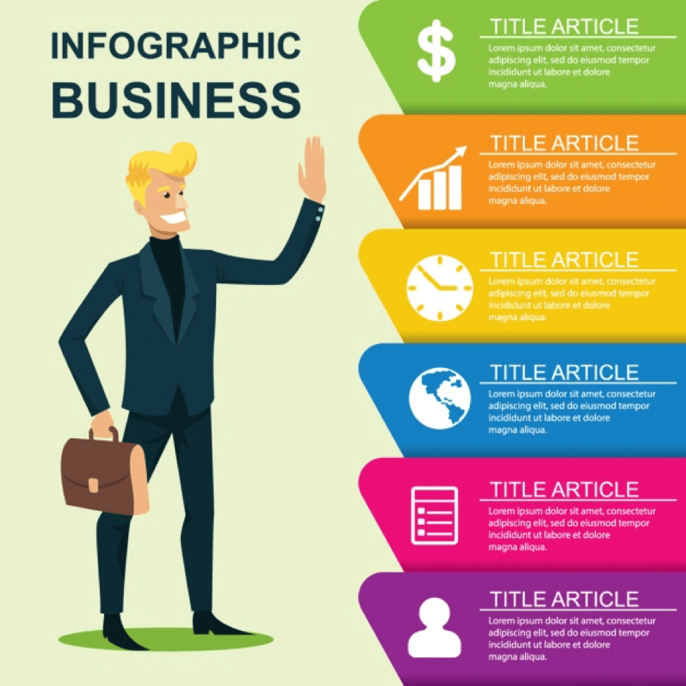 Infografik im Business